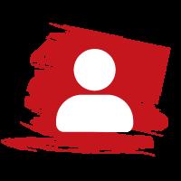 logo recrutement sur fond rouge